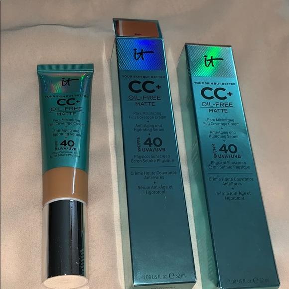 it cosmetics Other - It cosmetics cc+ oil free matte face cream